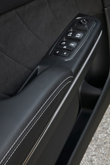 2019 Dodge Charger SRT HELLCAT with all-new premium stitched dash and door uppers. (Dodge).
