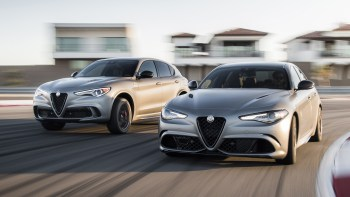 2019 Alfa Romeo Stelvio (Left) and Giulia (Right) Quadrifoglio NRING. (Alfa Romeo).