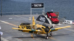 Jeep® Heroes Drive Aboard The USS Hornet. (Jeep®).