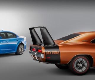 2020 Dodge Charger SRT HELLCAT Widebody Daytona and 1969 Dodge Charger Daytona. (Dodge//SRT).