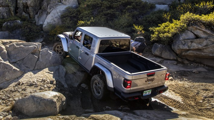 2020 Jeep® Gladiator Rubicon on the Rubicon Trail. (Jeep).