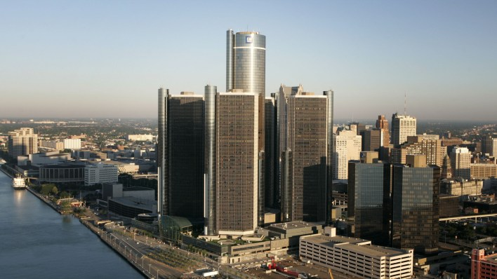 The GM Renaissance Center in Detroit, Michigan. (GM).