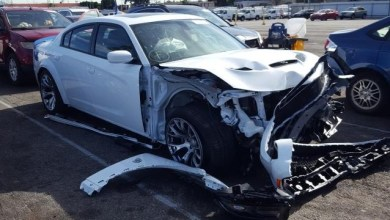 Photo of Wrecked Hellcat Widebody Daytona 50th Anniversary Edition Shows Up On Copart: