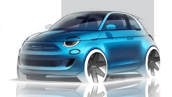 The New Fiat 500 Sketch. (FIAT).