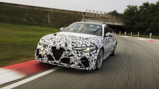 The 2021 Alfa Romeo Giulia GTAm Testing at Balocco. (Alfa Romeo).