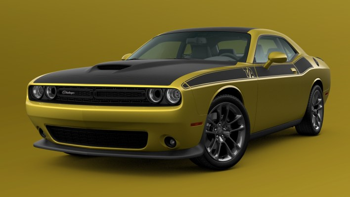 2021 Dodge Challenger T/A in Gold Rush. (Dodge).
