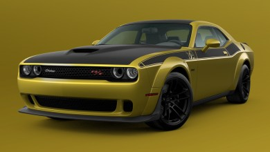2021 Dodge Challenger T/A 392 Widebody in Gold Rush. (Dodge).