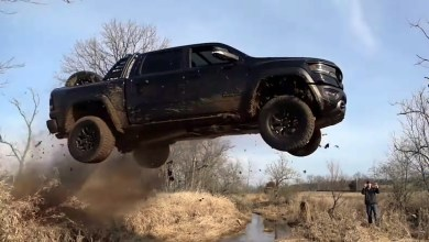 StreetSpeed717 launching his 2021 Ram 1500 TRX. (StreetSpeed717).