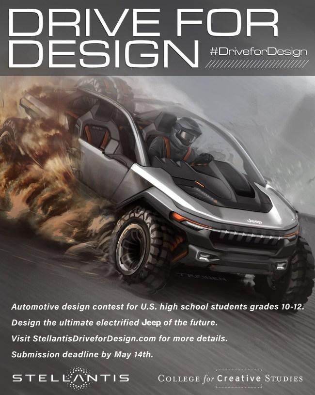 2021 Drive For Design Poster. (Stellantis).