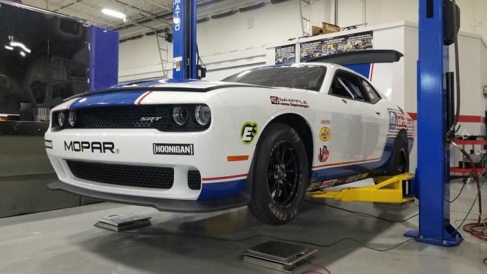Leah Pruett's new 2021 Dodge Challenger Mopar Drag Pak. (DSR).