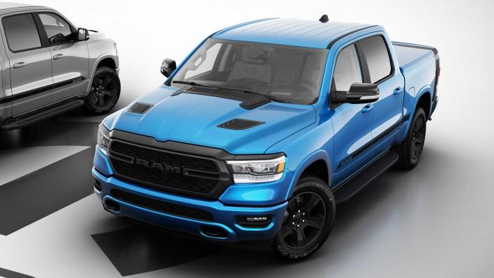 Mopar '21 Ram 1500 Special Edition in Hydro Blue. (Mopar).