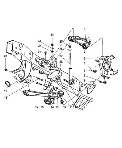 Dodge Dakota Front Suspension Diagram : dodge, dakota, front, suspension, diagram, 6101971, Genuine, Mopar, BOLT-HEXAGON