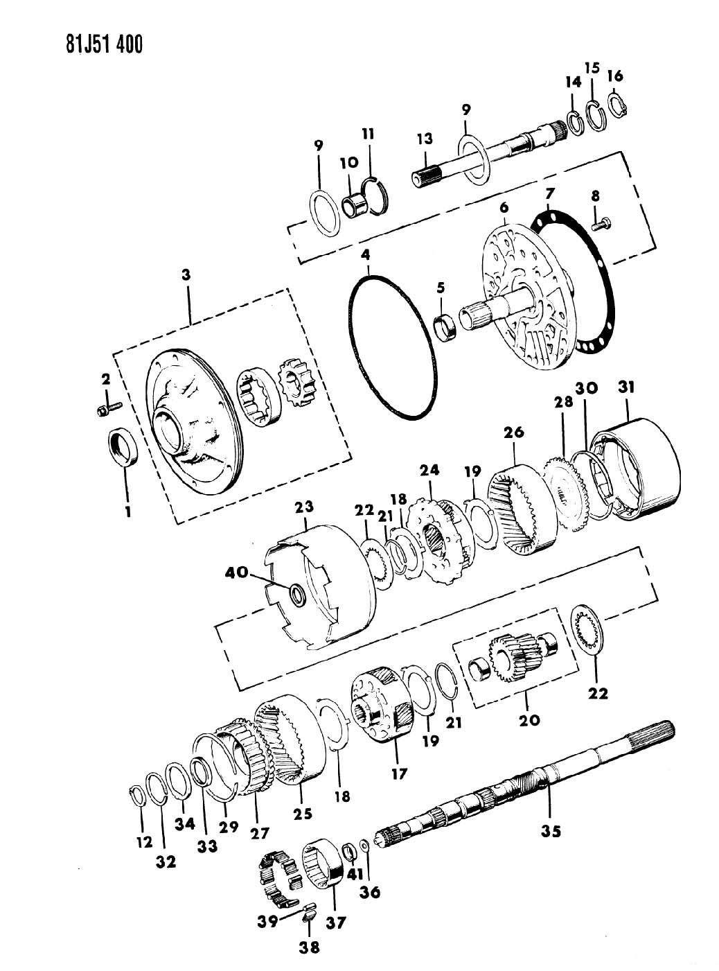 Pump Oil And Gear Train Automatic Transmission