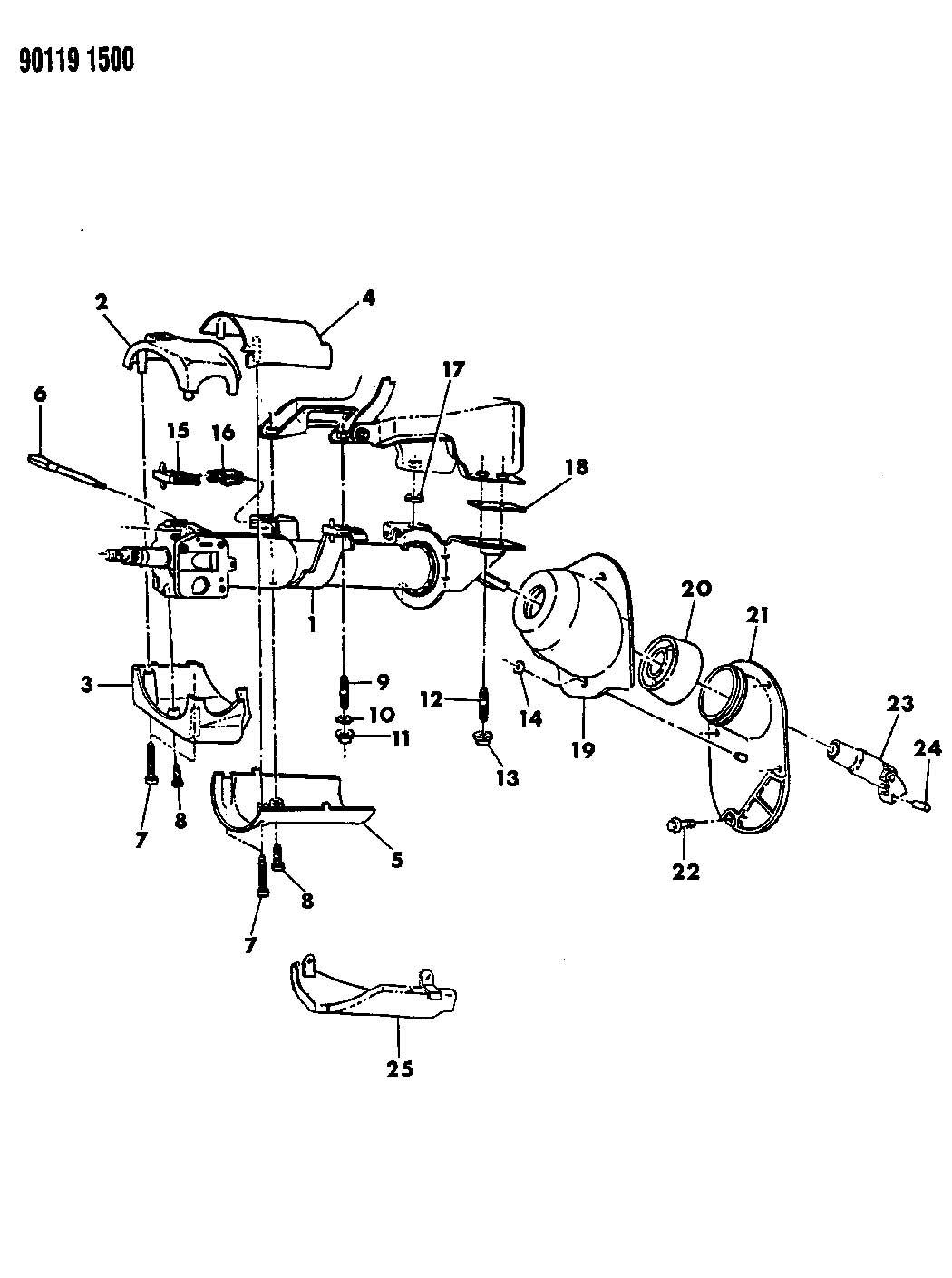 Service manual [1992 Plymouth Laser Tilt Steering Column