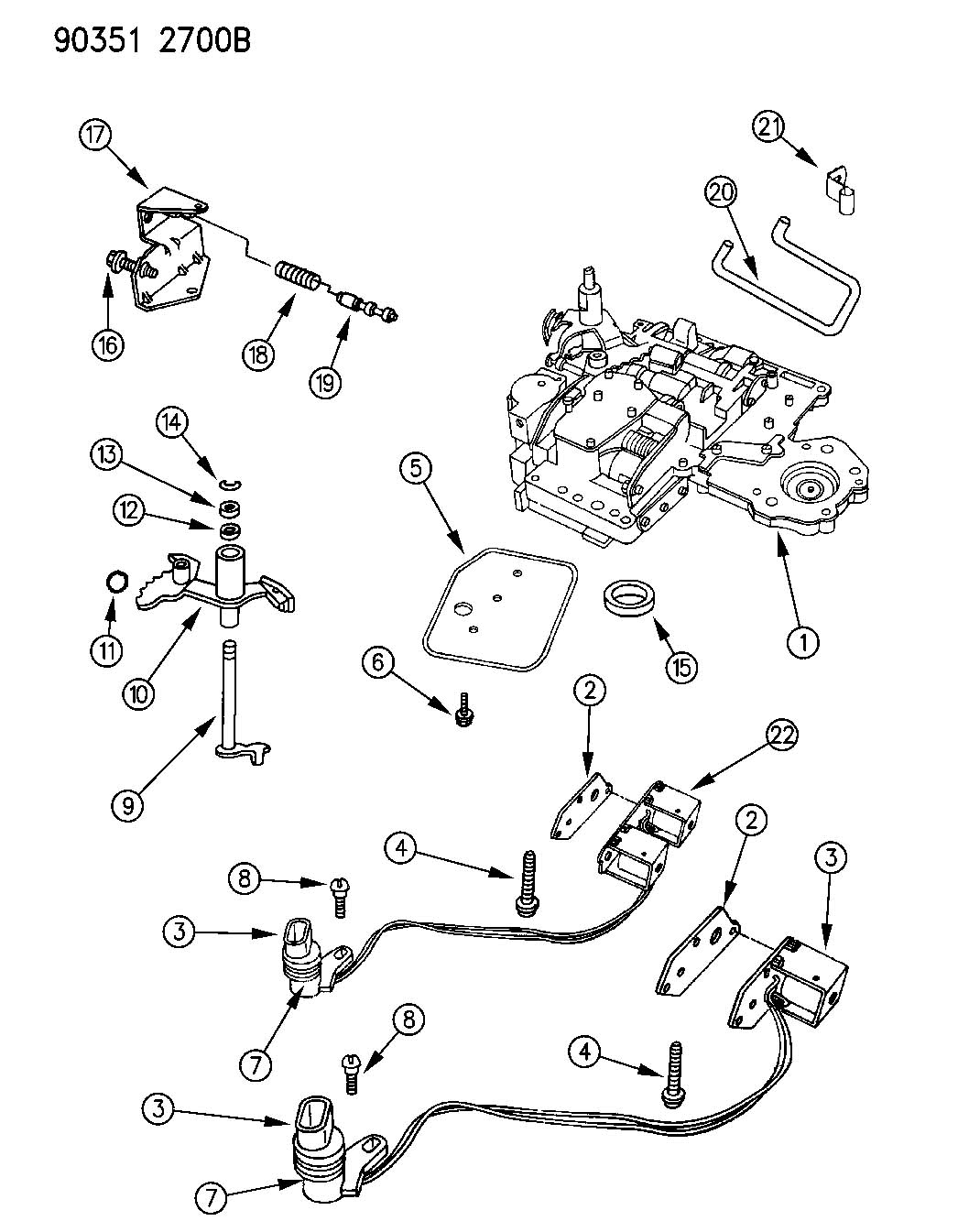VALVE BODY AUTOMATIC TRANSMISSION, A518 4 SPEED B,N,D BODY