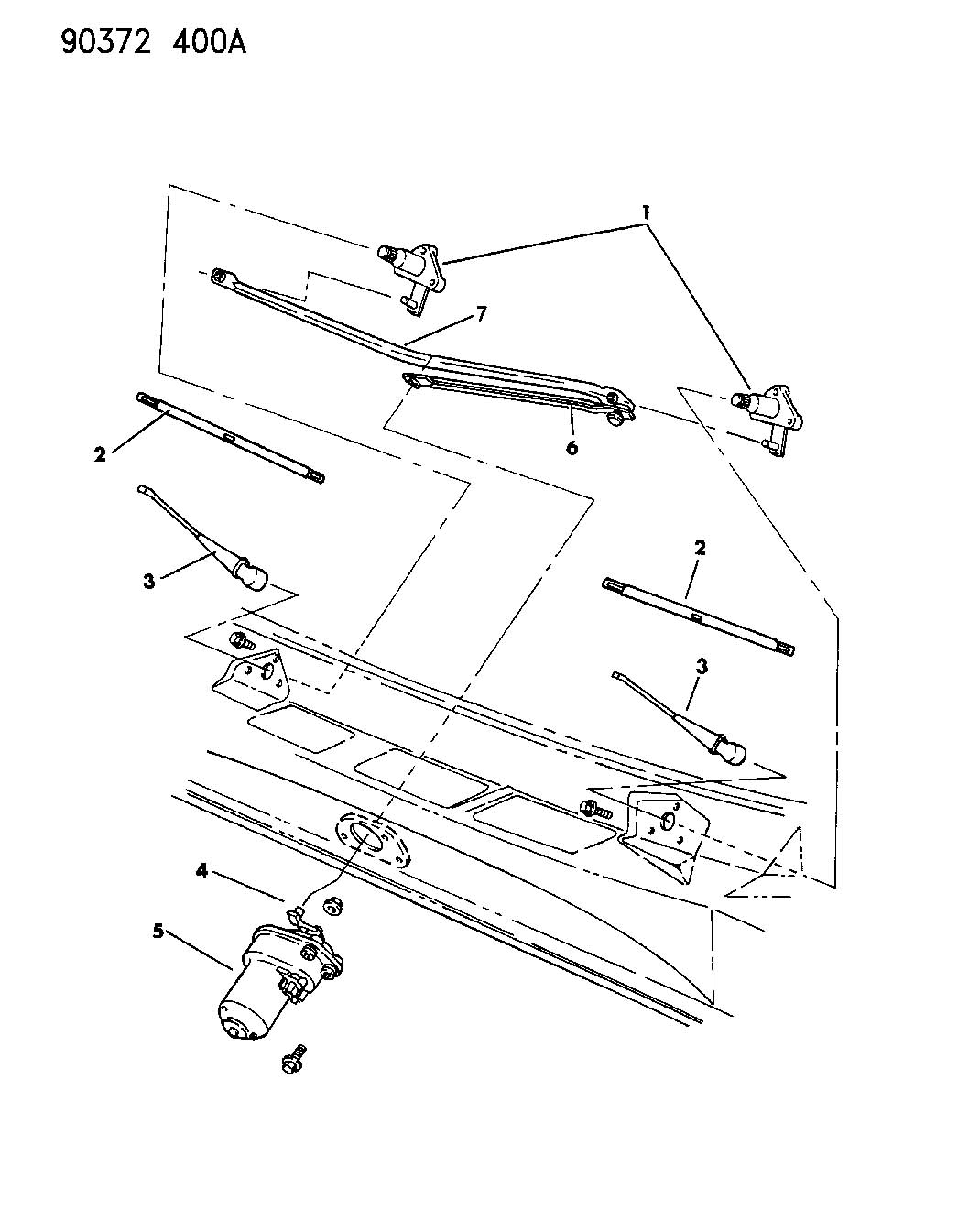1993 Dodge Pick-Up/Sport Utility WINDSHIELD WIPER SYSTEM D