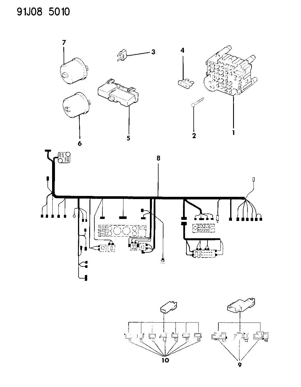 1992 Jeep Wrangler WIRING--INSTRUMENT PANEL WRANGLER