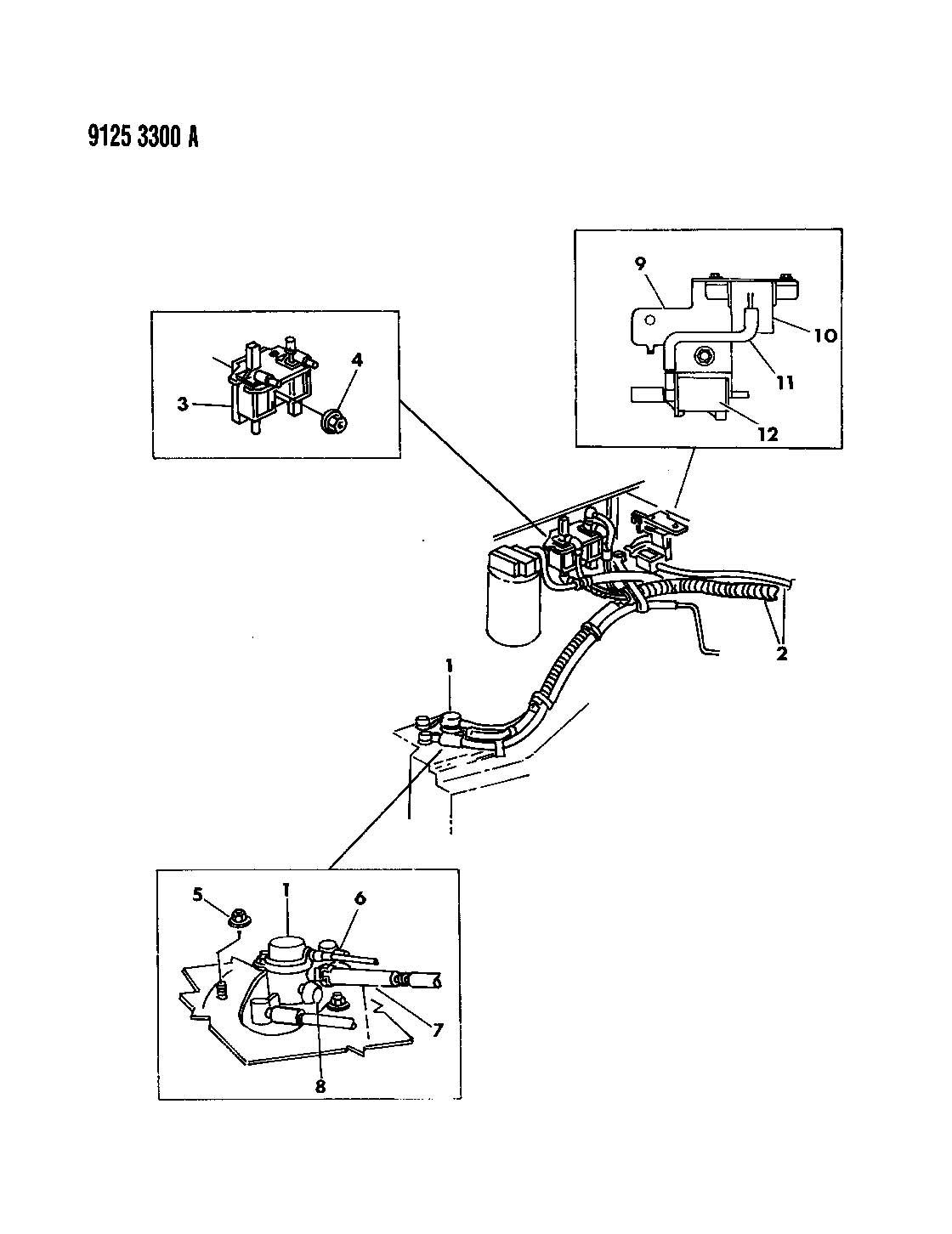 Chrysler Lebaron Vapor Canister 2 2l Engine