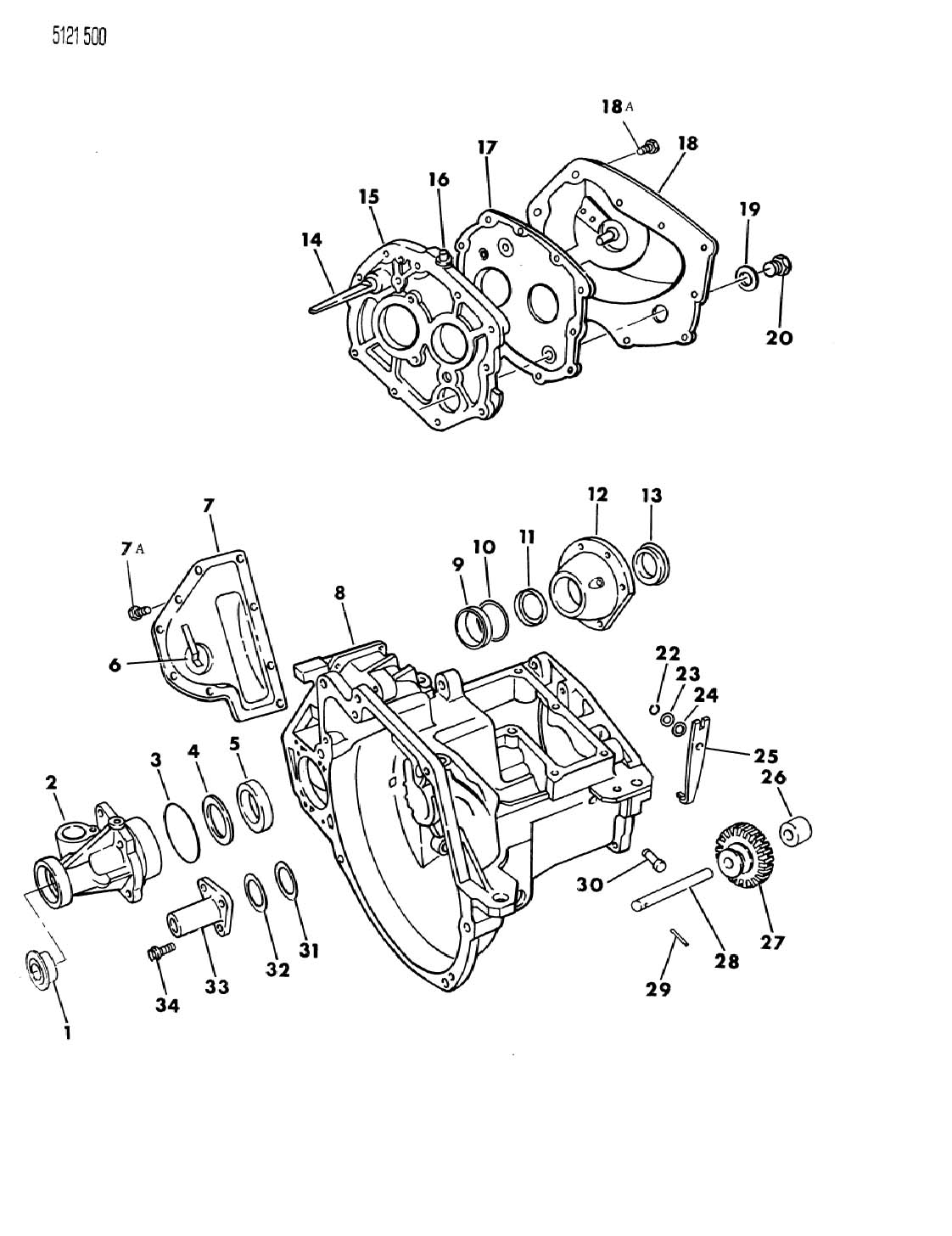 CASE, TRANSAXLE AND RELATED PARTS MANUAL TRANSAXLE, A525 5