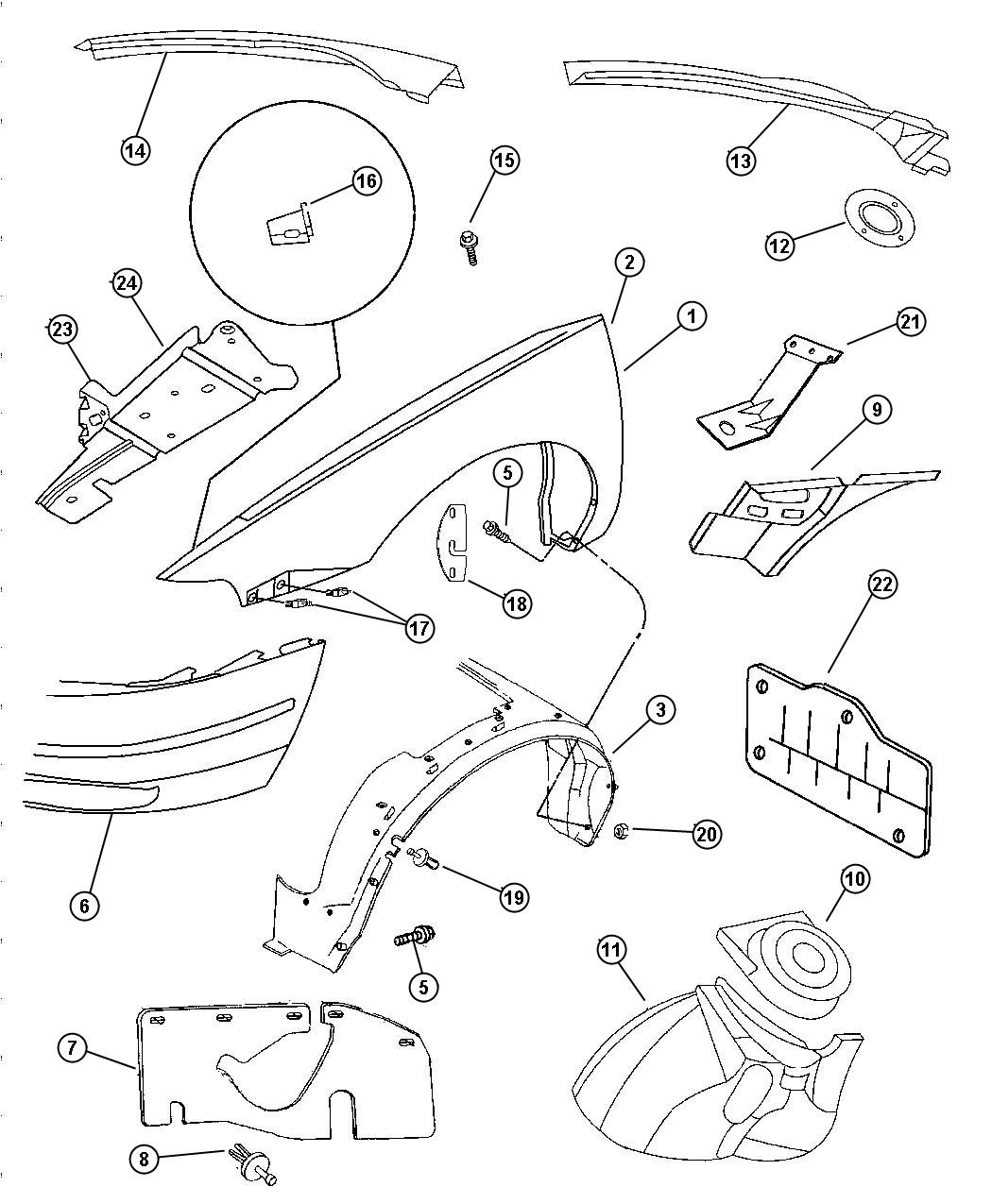 Service manual [1997 Geo Tracker Splash Shield