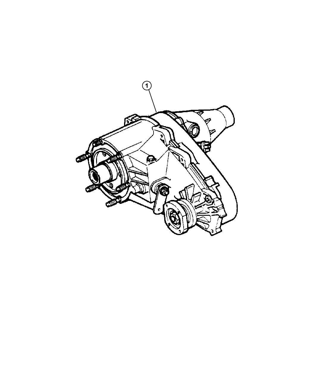 1999 Dodge Ram 1500 Transfer Case Assembly 231 [DHK]