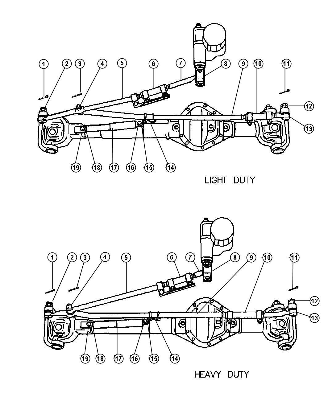 Bar Control Semi Truck Suspension Diagram