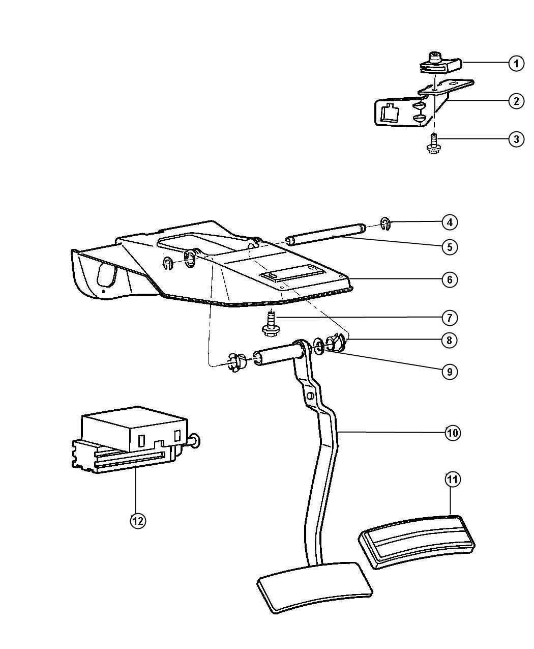 1998 Dodge Ram 3500 Pedal.Brake