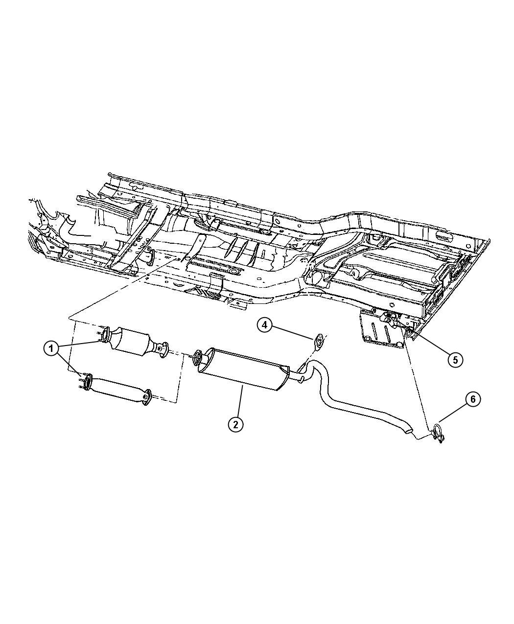 Jeep Cherokee Exhaust System, Rear (ERH)