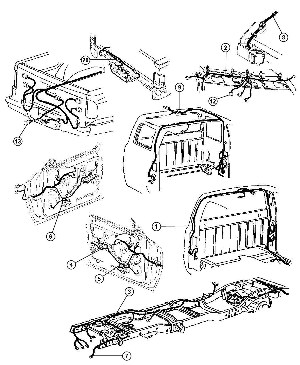 2001 Dodge Ram 2500 Wiring, Body & Accessories