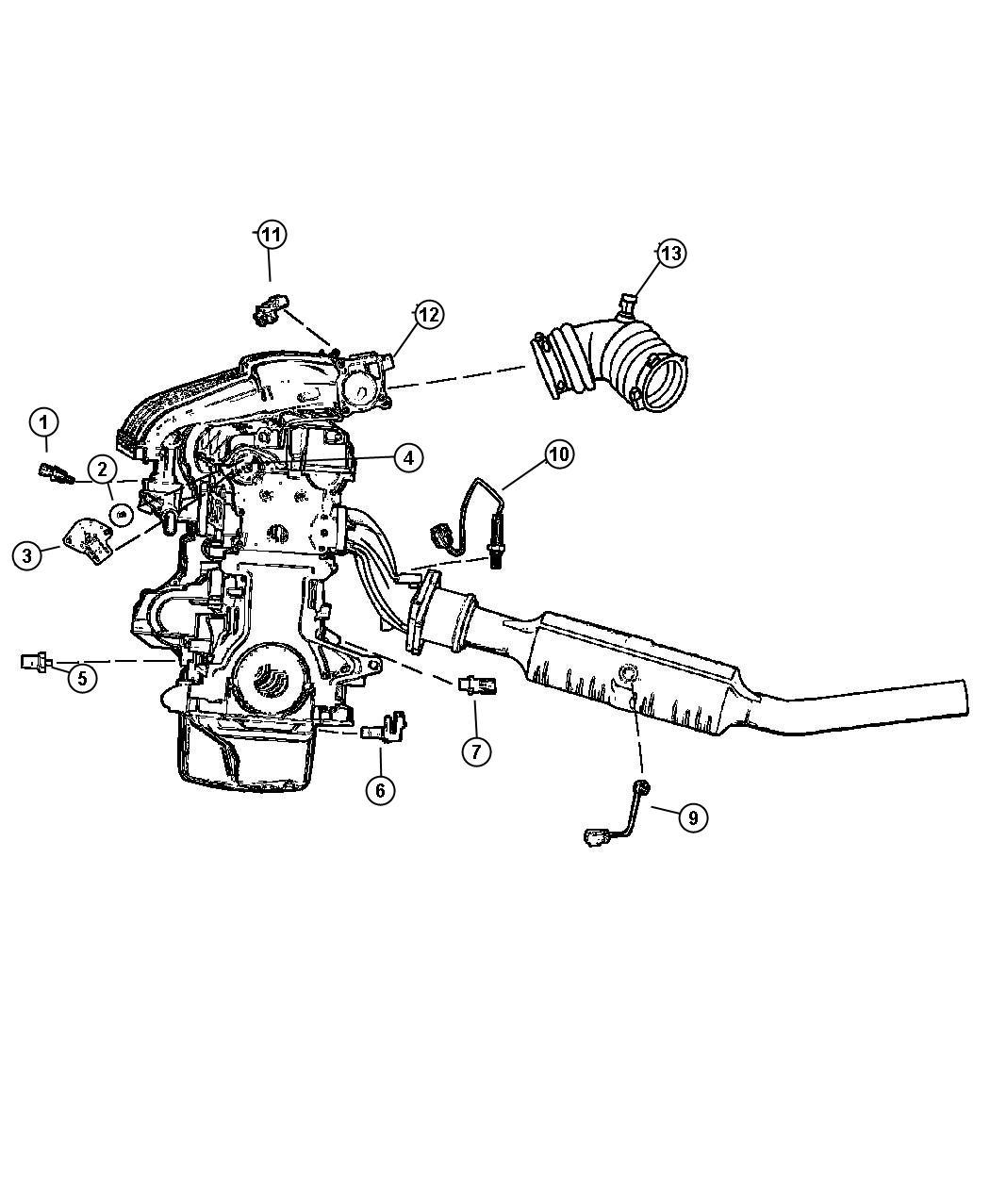 Chrysler Sebring Sensors Engine 2 0 Ecc 2 4 Edz Edv