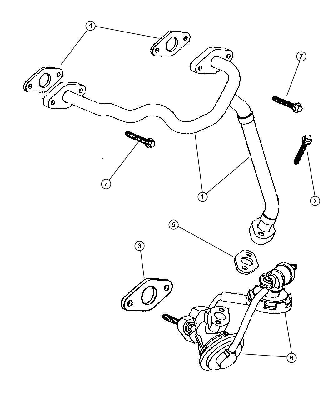Dodge Intrepid Egr Valve System Lh Body 3 5l Engine