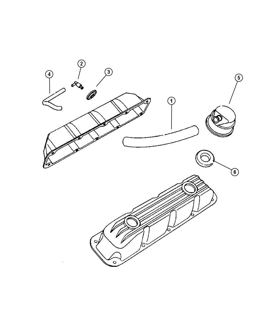 Dodge Ram Crankcase Ventilation 5 9l Eml