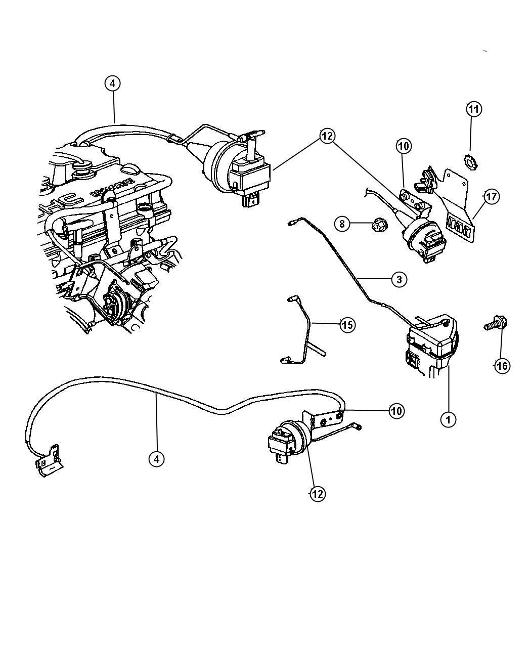 2004 Dodge Stratus Speed Control 2.0L-2.4L-2.7L Engine
