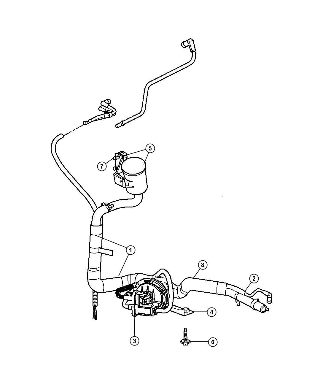 2004 Dodge Grand Caravan Leak Detection Pump
