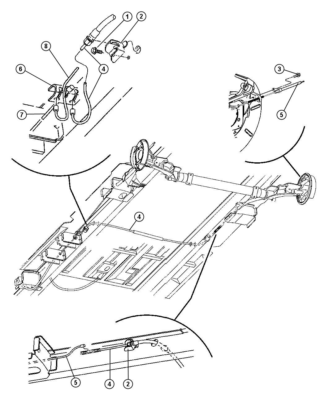 Dodge Grand Caravan Cables Rear Parking Brake