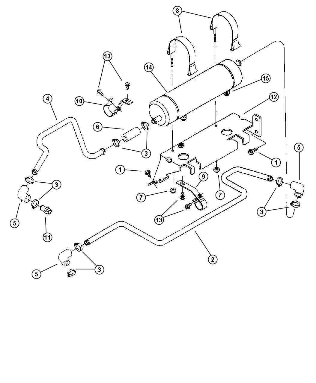 1998 Dodge Ram 3500 Torque Converter Cooler