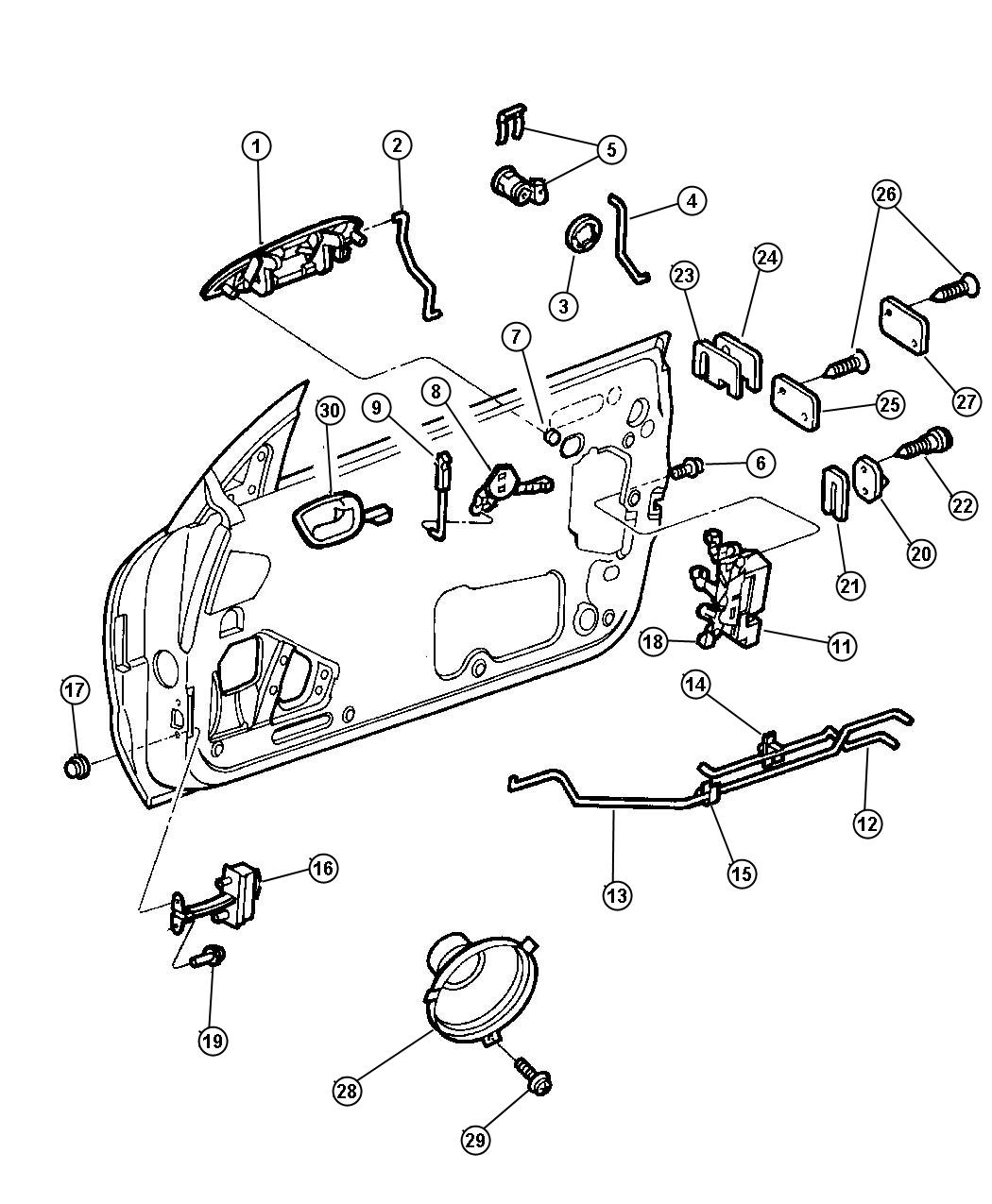 Service manual [1998 Chrysler Sebring How To Remove Window