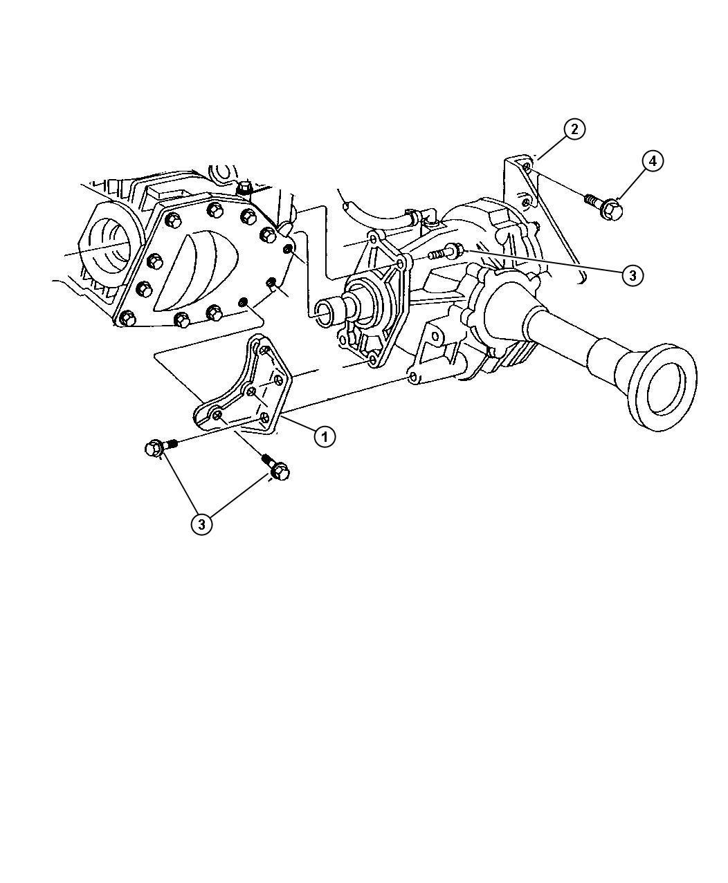 Dodge Grand Caravan Engine Mounts Power Transfer Unit Awd