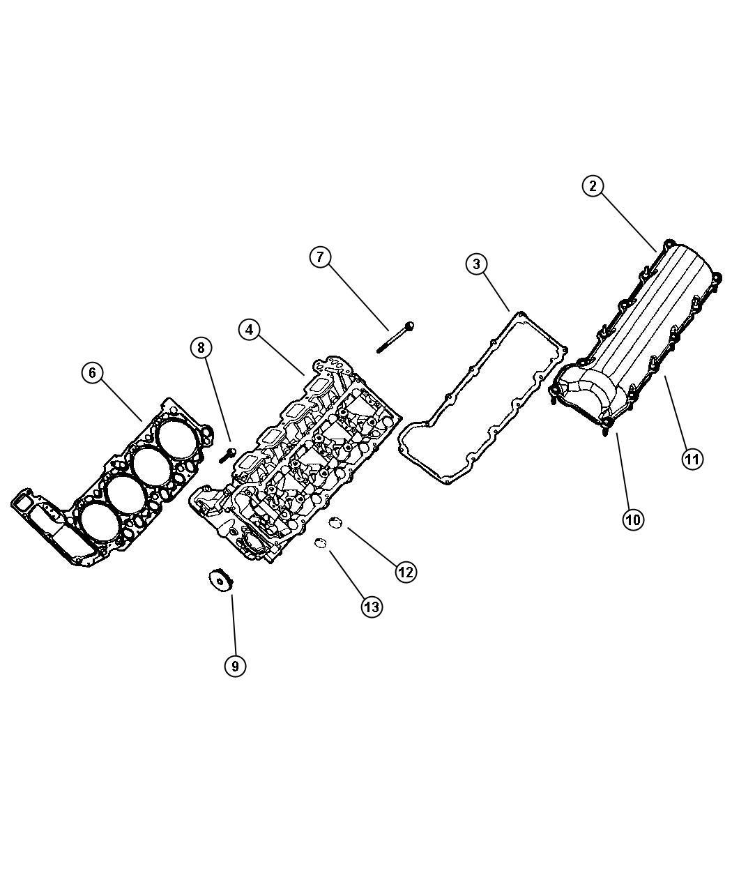2006 Dodge Durango Cylinder Head, 4.7 [EVA] [EVD]