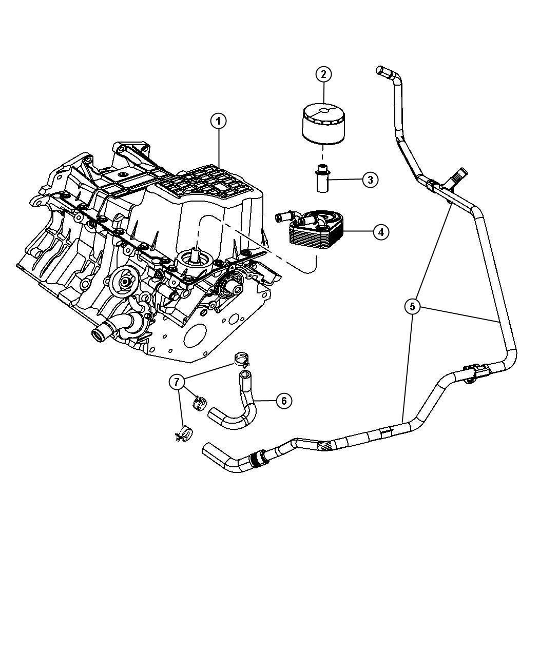 Engine Oil Cooler, Oil Filter And Coolant Tubes 4.0L [EGQ]