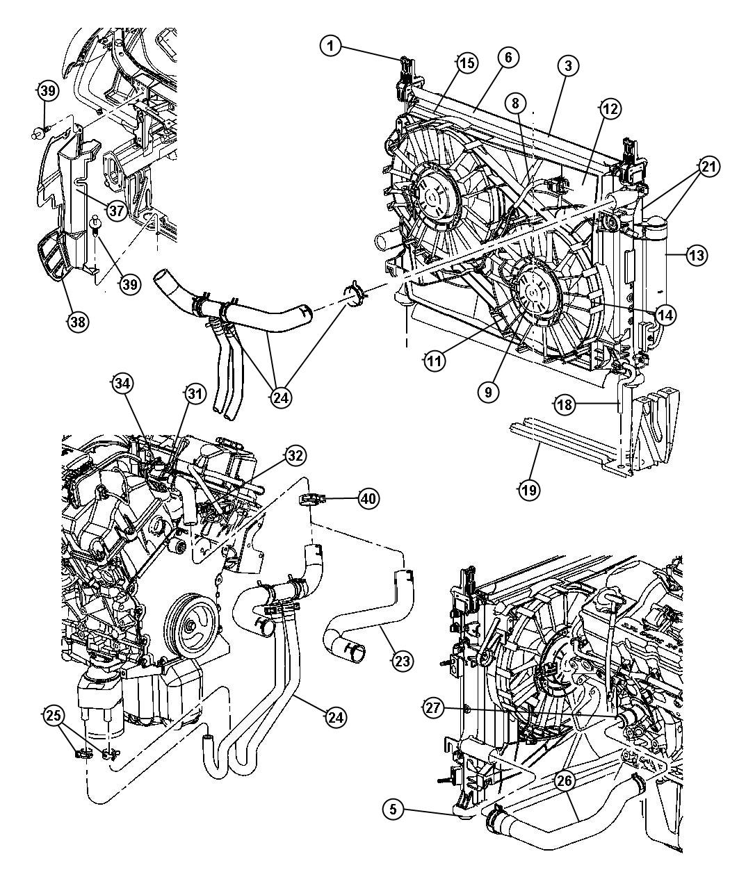 Radiator And Related Parts 2 7l Engine