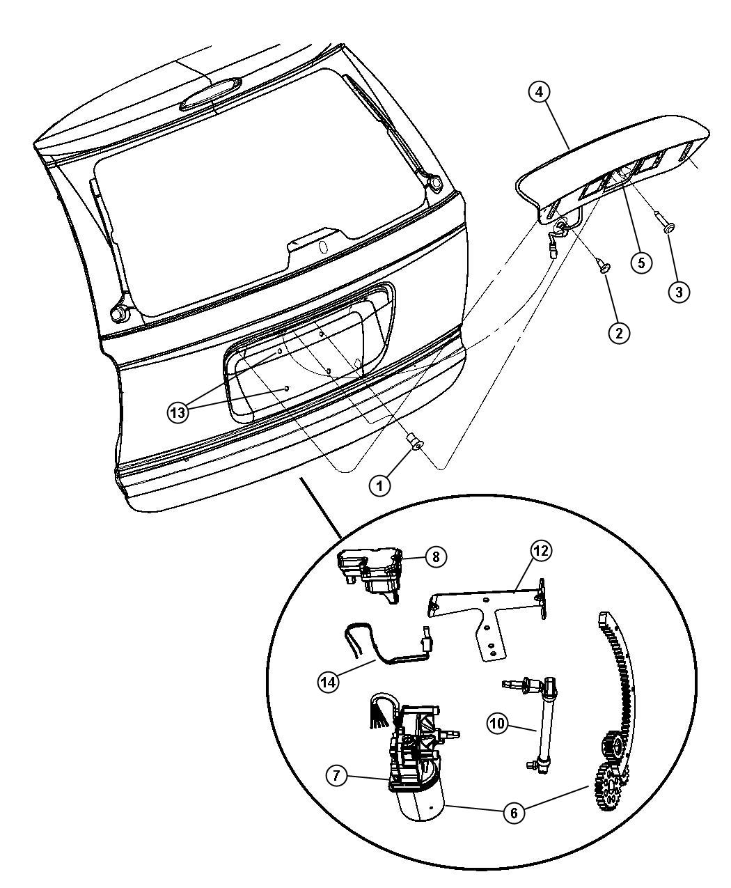 Service manual [2005 Dodge Grand Caravan Liftgate Panel