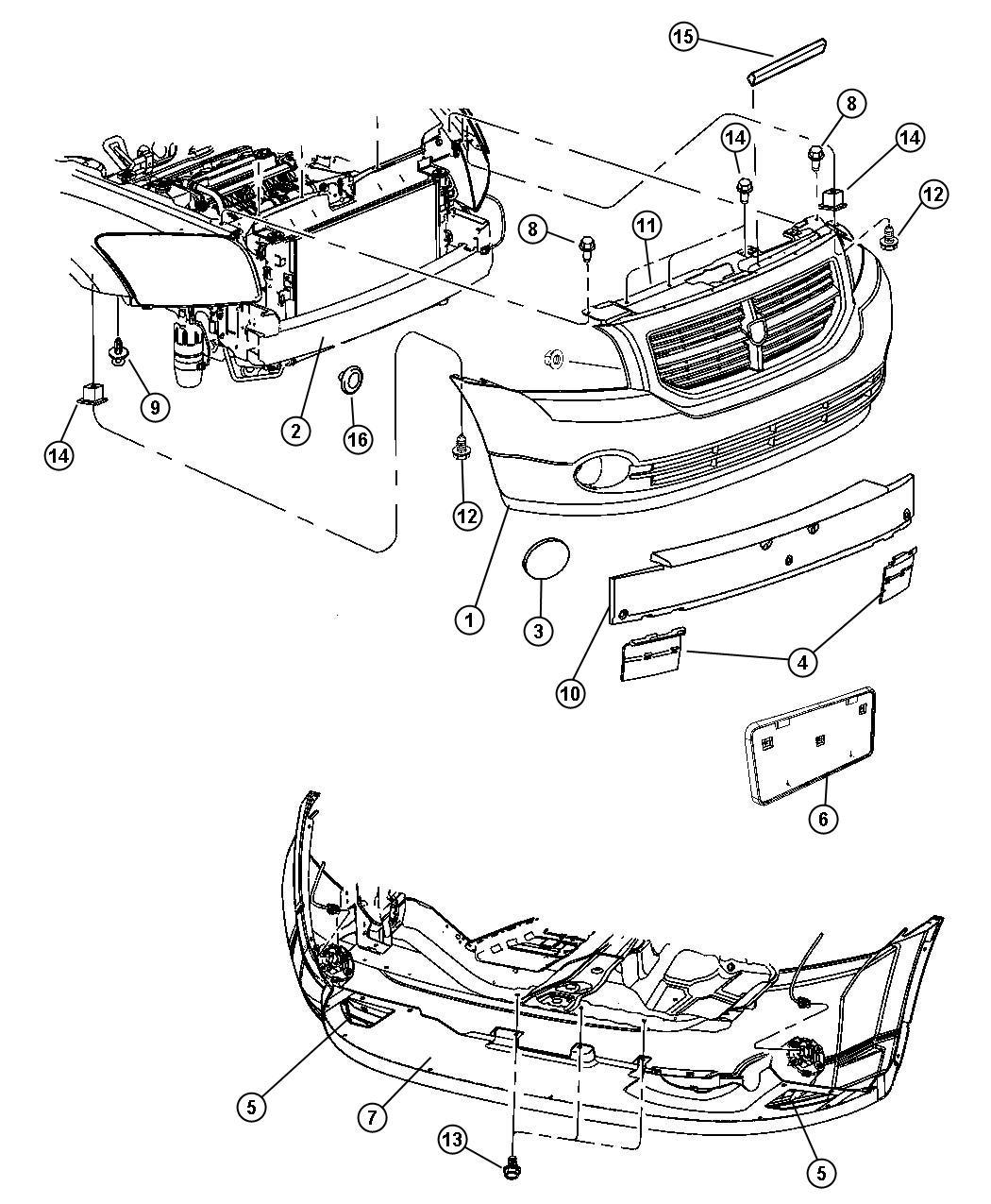 Dodge Caliber Fascia, Front