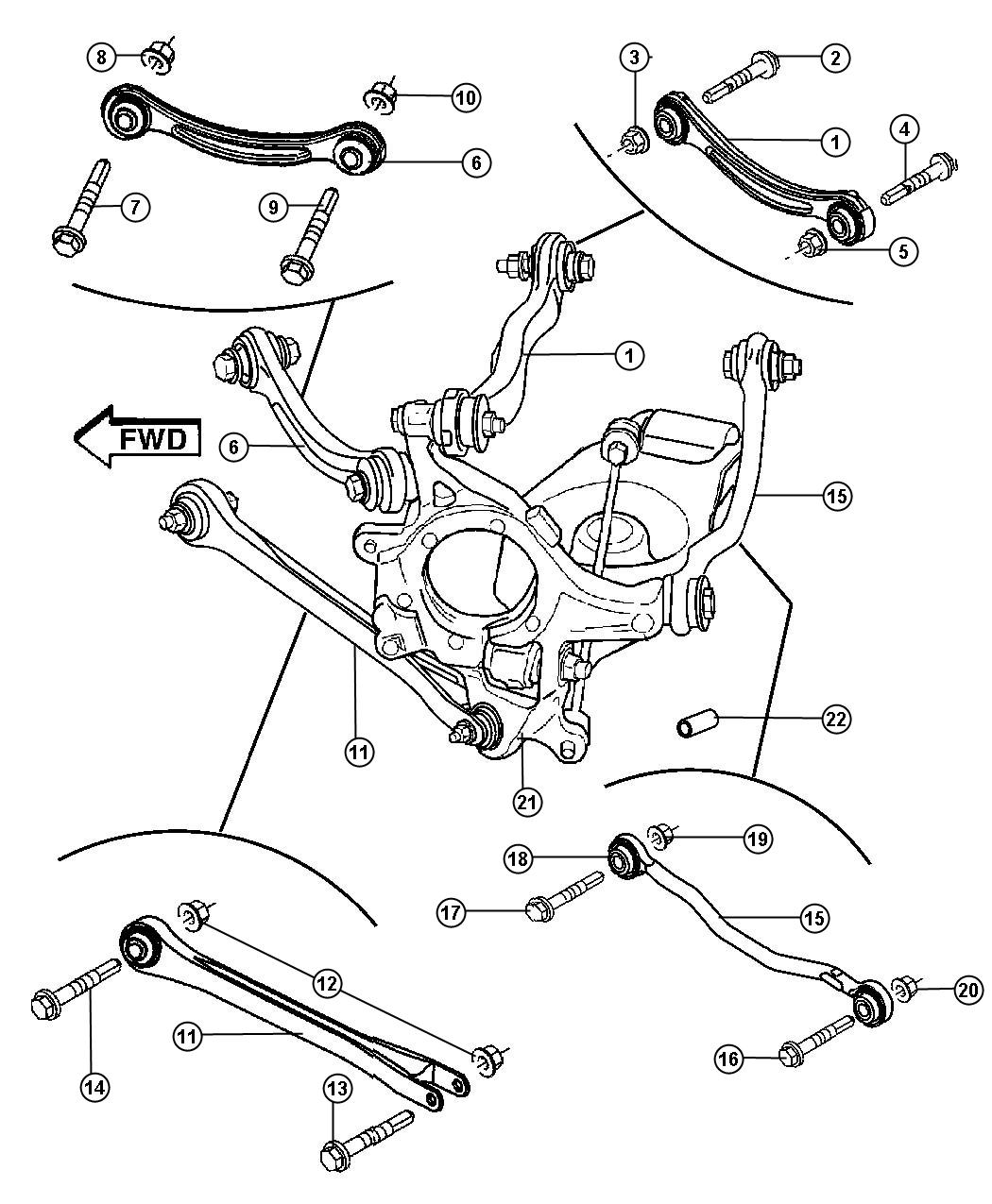 2008 Dodge Charger Rear Suspension Diagram