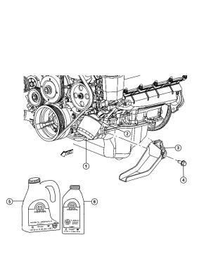 2009 Chrysler Aspen Engine Oil, Engine Oil Filter And