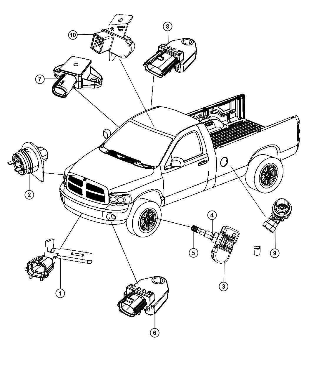 Dodge Ram Sensors Body