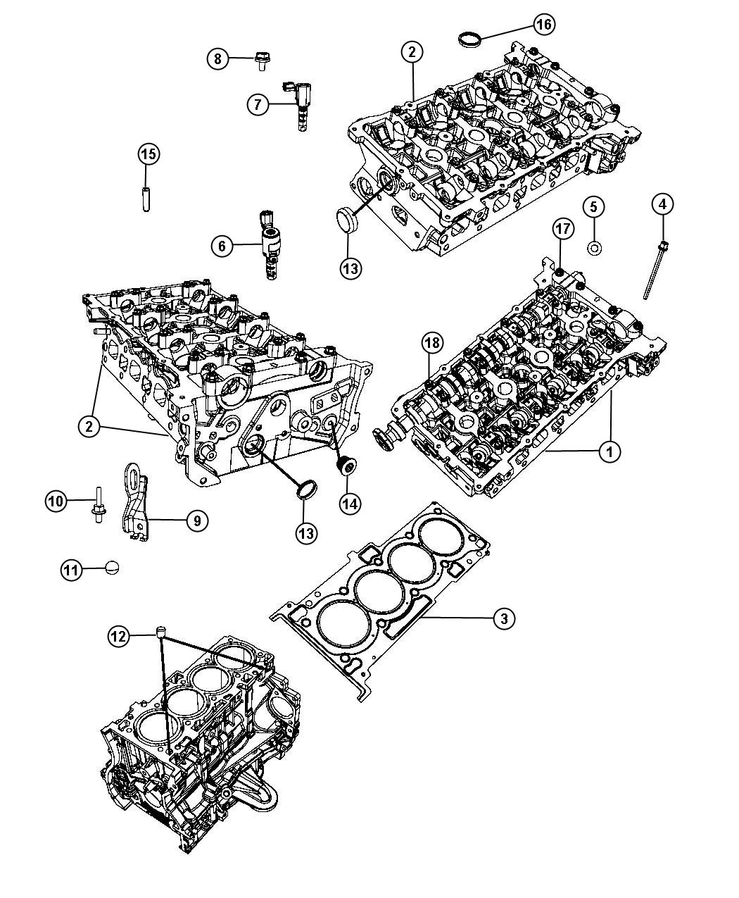 2012 Dodge Avenger Cylinder Head 2.4L [EDG]