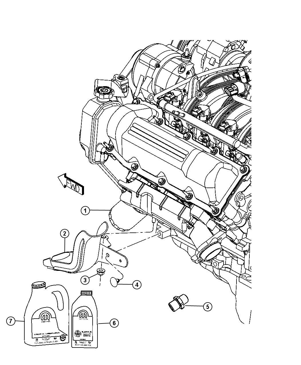 2012 Jeep Liberty Engine Oil, Engine Oil Filter, Adapter