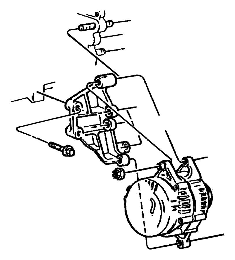 1995 Jeep Cherokee ALTERNATOR (GENERATOR) AND MOUNTING 2.5