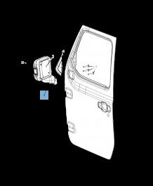 MOPAR Store External wing mirror for Jeep Wrangler
